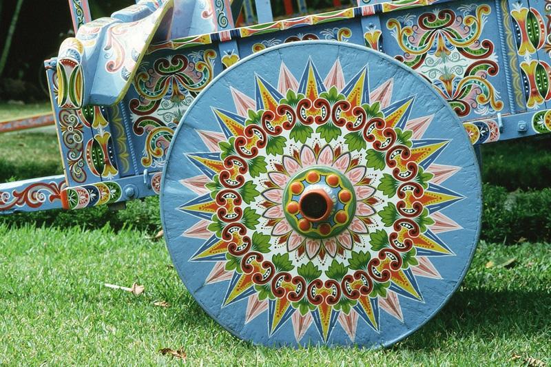 Costa rica la charrette symbole national du travail histoire - Roue de charette decoration ...