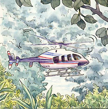 hélicoptère île de re